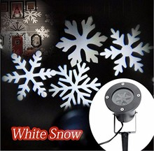 Outdoor Waterproof LED Snowflake Christmas Projector Light Lamp Decoration