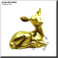 ceramic chrome plating golden deer figurine