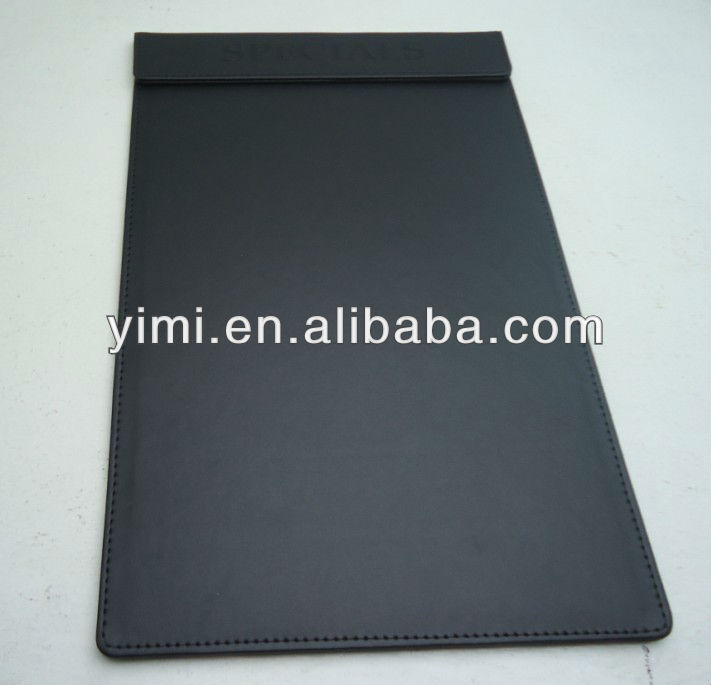 PU leatherette magnetic clip board
