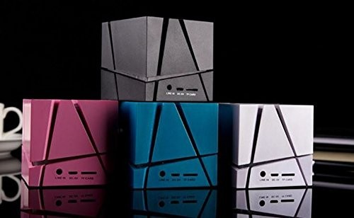 Music cube shape raido stereo bluetooth speaker with led