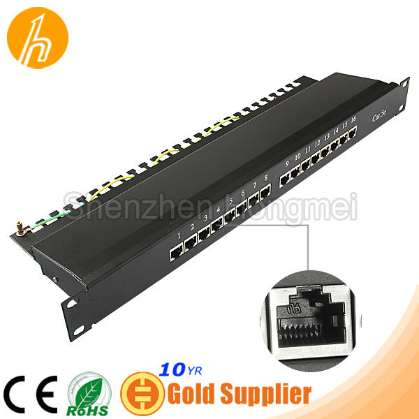 16 ports STP FTP Cat5e Patch Panel