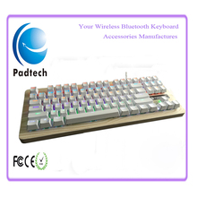 2016 New Arrival OEM Wood Computer Gaming Keyboard Green