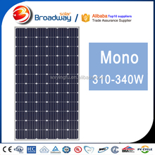 Broadway 100% TUV CE IEC ISO Qualified 320w Mono Silicon PV Module 320 wp Solar Panel
