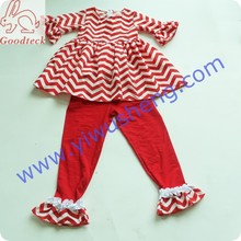 baby clothes girls fashion set ,kids clothing girls dresses with bows sweeting latest design baby frock chevron dress for spring