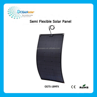 75W High efficiency semi flexible solar panel for yacht