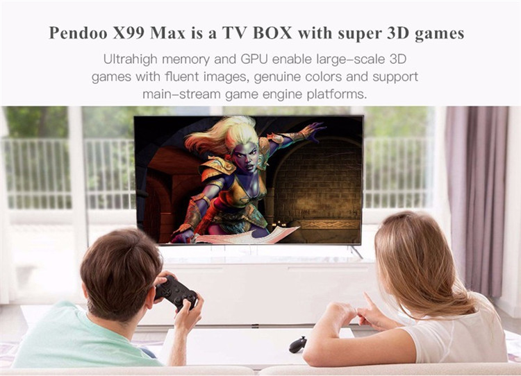 android tv box with sim card Pendoo x99 max rk3399 4G 32G digital tv box