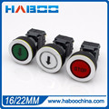 dia.16/22mm LED push button switch momentary or on-off electrical switch with laser marking