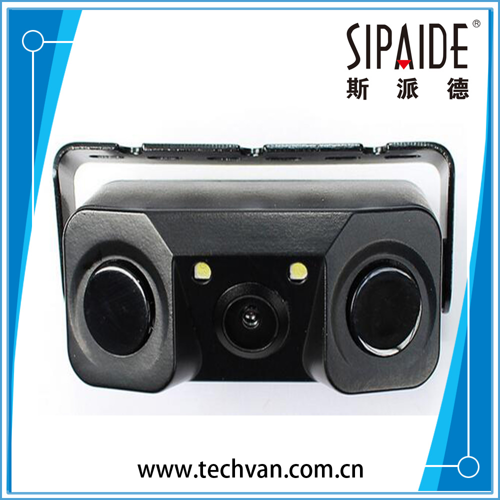 SPD162 Car Video Parking Camera Sensor Rear View Camera with 2 Sensors Indicator Bi Bi Alarm Car Reverse Radar Assistance System