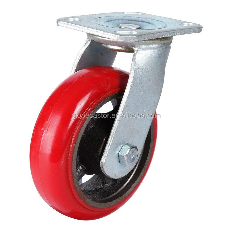 direct factory supply caster and wheel,heavy duty castor wheel PU tread