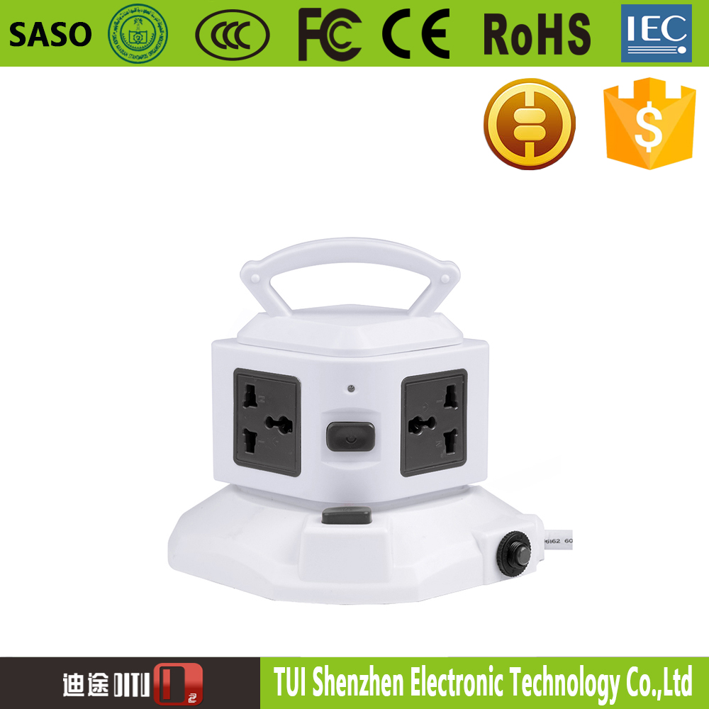 convenient smart tower switch one layer power strip extension plug socket