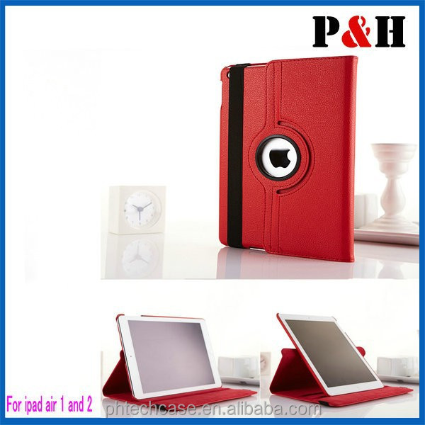 Factory directly 360 degree Rotating Case Flip leather case For ipad