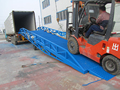 Hydraulic container loading ramp /truck unloading dock platform