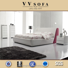 2015 Hot sales modern pink leather bedroom furniture ,Foshan factory leather bed