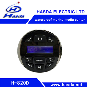 Excavator Mountings durable waterproof marine mp3 player with BT
