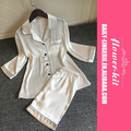 With padding sexy v-neck women summer leisure wear pajamas