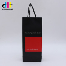 Custom High End Beverage Wine Paper Bag For Wine