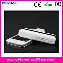 new promotional products 2015 supply portable mobile power bank 2600mah
