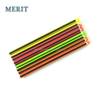 High Quality Neon Strips HB Pencil, Hexagonal Standard Pencil with Dip End MT8004