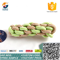 Pet squeaky cotton rope toy plastic dog bone toy