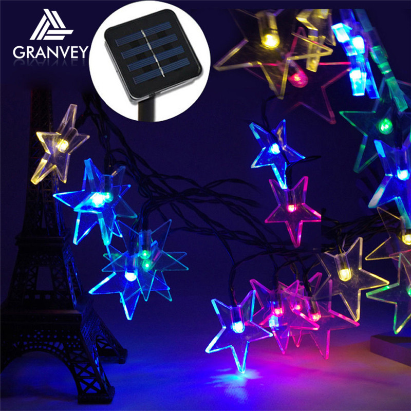 Outdoor garland 80cm string light stay bright flash holiday christmas led star lighted decoration ornament