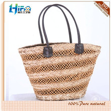 2018 hot sale Natural fashion Sea Grass Straw beach Bag/shopping bag for ladies