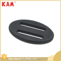 Backpack accessories black oval shape ajustable bag plastic buckles