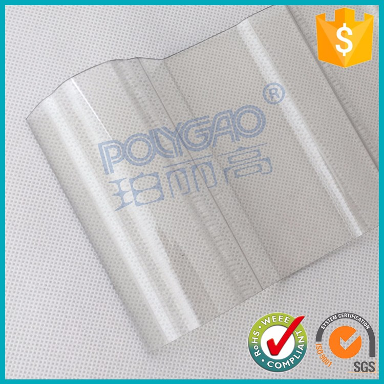 The light transmission reaches12%-82% corrugated polycarbonate sheet