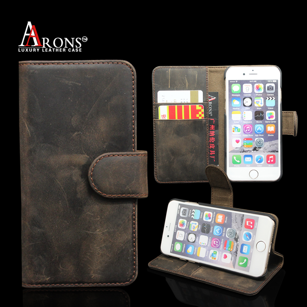 Vintage old book style leather case for mobile phone genuine leather case for iphone 6