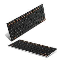 Stainless Steel Ultra-flat Keyboard,Wireless Bluetooth Keyboard for Tablet PC