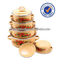 5pcs multi colored HOT Wholesales porcelain pot set cast iron enamel cookware
