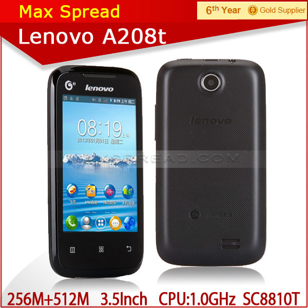 2014 Newest Original Lenovo A208t Phone 1.0GHz 3.5 inch IPS mobile phone dropshipping