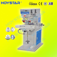 GW-P2/S-CP two color pad printing machine/tampon printing machine for pencils and pens