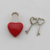 Small heart shaped padlock red heart key locks heart shaped lock with key