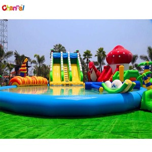 Mobile kids and adults giant inflatable water park slide