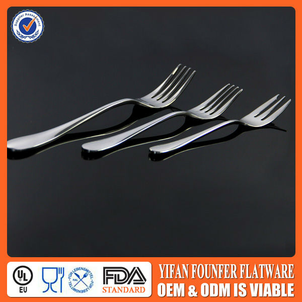 Hot selling restaraunt long handle dinner fork price