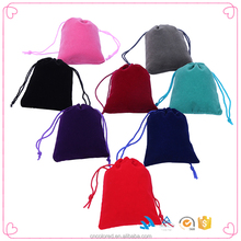 Drawstring Pouch Dust Custom Jewelry Logo Printed With Zipper Velvet Bag