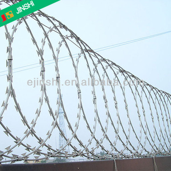 BTO-22 Galvanized Flat Concertina Razor Barbed Wire
