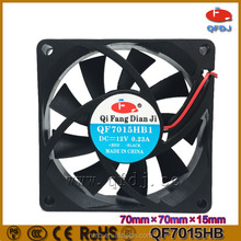 70mm 70*70*15 small industrial cooling fan ball bearing 12v force cooling fan