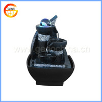 polyresin led light laminar jet fountain