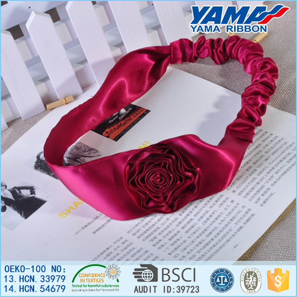 New hair bands ribbon bows kids infant baby girls head wraps accessory for girl headbands satin flower