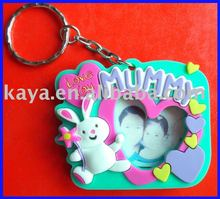 Plastic PVC photo insert key chain