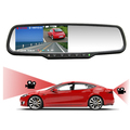 Car Rear View Camera 1080P Dual Camera Rearview Mirror Novatek 96658 150 Degree Dash Cam