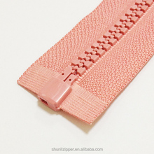 2015 5# plastic o/e zipper for plastik