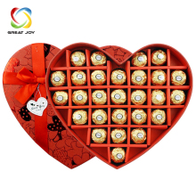 custom heart shaped paper luxury chocolate box for wedding invitation