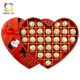 custom heart shaped paper noodle luxury chocolate box for wedding invitation