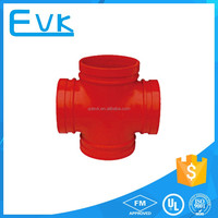 Fire Fitting Ductile Iron Grooved Pipe Fitting Cross