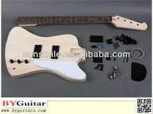 Solid wood DIY Electric Bass Kits with unique shape GK STB 10