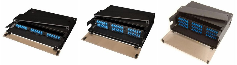 High Density Rack Mount Fiber Optic Patch Panel