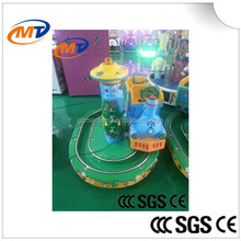 Round Castle track ride miniature trains amusements rides electric train for sale