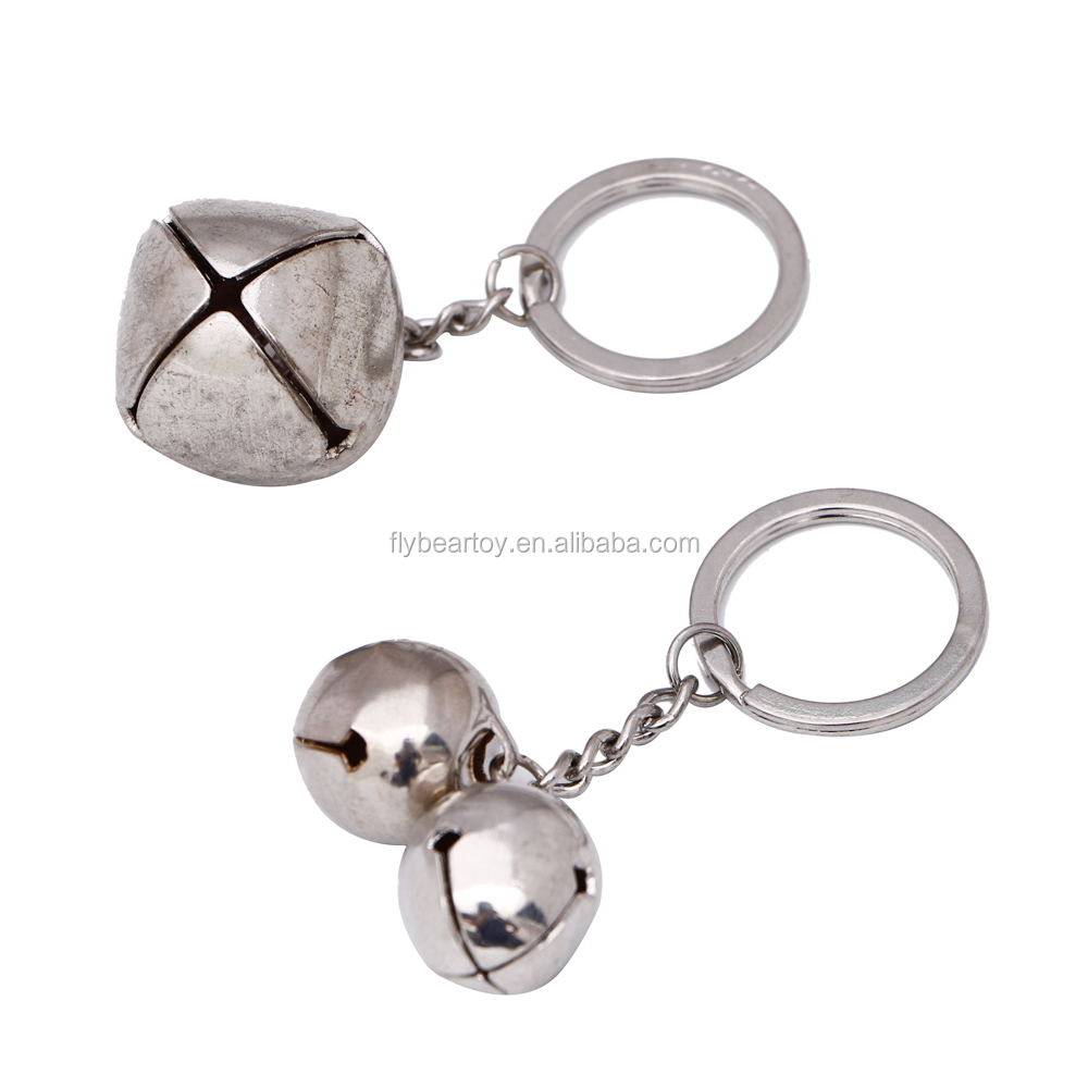 Mini Christmas jingle bells custom color bells with keychain